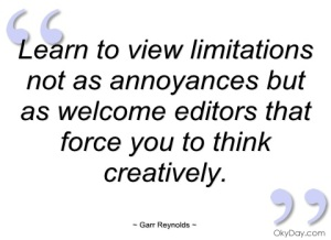 creative limitations